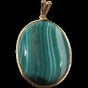 Gorgeous Brazilian Agate Natural Stone Vintage Pendant