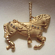Vintage Carousel Horse Pin ~ Come Ride the Merry go Round