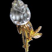 Swarovski Crystal Singular Sensation Rose Bud Pin