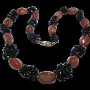 Garnet and Carnelian Unusual Artisan Necklace