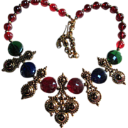 Gorgeous Statement Runway Jose Marie Barrera Adriatic Necklace Signed