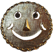 Vintage Happy Face Pin or Pendant 1960's CLEARANCE