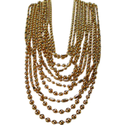 NAPIER Couture Multi Strand Linked Necklace Runway