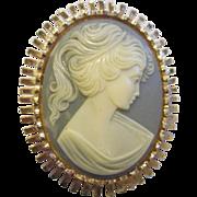 Beautiful Vintage Cameo Pin Pendant