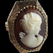 Perfume Cameo Ring Luzier Memento