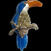Vintage Colorful Tuscan Bird Pin