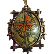 Monarch Butterfly Pendant Most Unusual Frame Necklace