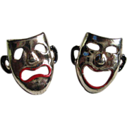 Vintage Pair of Comedy & Tragedy Scatter Pins