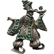 Fabulous Rare Aladin and his Magic Lamp Pot Metal Pin Figural Vintage Brooch Pin