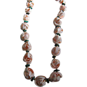 Natural Seashell Flower Lei Necklace