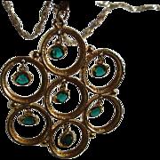 Stunning Runway Swarovski Green Waterfall Designer Necklace