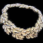 Crown Trifari Vintage Gold tone Leaf Bracelet