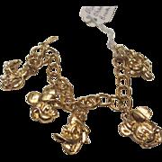 Vintage Disney Charm Bracelet Mickey Mouse signed
