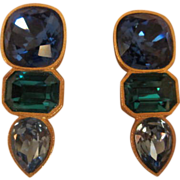 Vintage Runway Couture MARY FROST  Earrings Bold & Beautiful