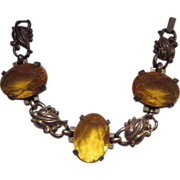 Older Citrine Glass Bracelet