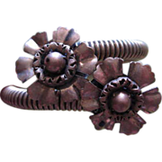 Wonderful Bypass Double Flower Bracelet