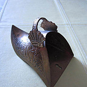 Unique Hand Etched Brass Match Holder