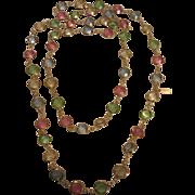 "Swarovski 35"" Pastel Bezel Australian Crystal Necklace"