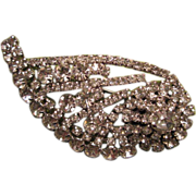 1950'2 Sparkling Halley's Comet Clear Rhinestone Brooch