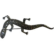 Art Deco Sterling Marcasite Gecko Lizard