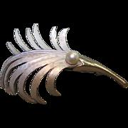 Vintage Stunning Kramer Palm Leaf Gold/Silver Pin