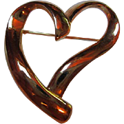 Trifari Modernist Heart Pin/Brooch