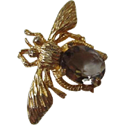 Hattie Carnegie Gorgeous Figural Bug Pin