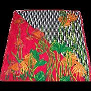 "Oscar De La Renta Boutique All Silk 31"" x 31"" Seascape Fish Bold Vivid Colors Scarf"