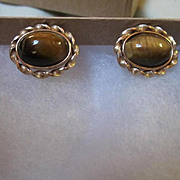 Krementz Tiger Eye Vintage Cufflinks