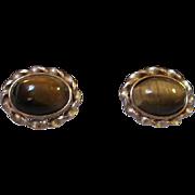 Krementz Tiger Eye Vintage Cufflinks