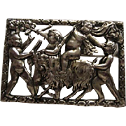 RARE Norseland Coro signed Mythological Putti Cherub Brooch/Pin