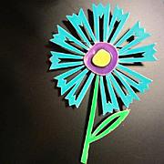 Fabulous Enameled Flower Power Pin 1960's signed JJ