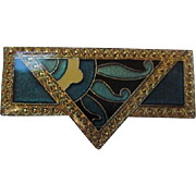 Pierre Bex French Enameled Art Deco Revival Pin