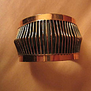 Classic Renoir signed Shadows Copper Open Cuff Vintage Bracelet Book Piece