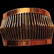 Classic Renoir signed Shadows Copper Open Cuff Vintage Bracelet Book Piece
