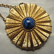 Vintage Estee Lauder fx Lapis Centerpiece Youth Dew Locket Book Piece