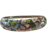 Beautiful Wide Vintage Chinese Cloisonne Bracelet