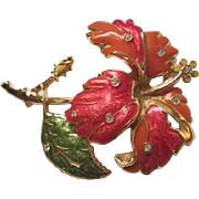 Gorgeous Jose Barrera Tiger Lily Statement Figural Brooch/Pin Signed