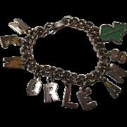 Vintage New Orleans Souvenir Travelers Charm Bracelet