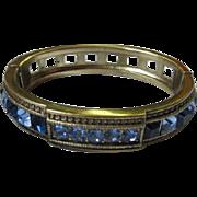 Gorgeous Heidi Daus Signed Royal Blues Vintage Bangle Bracelet
