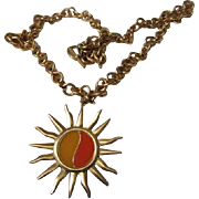 Fabulous Anne Klein Iconic Sunshine Vintage Statement Necklace Signed