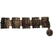 Paris Pre War Travelers Souvenir Edwardian Art Deco Era Wide Bracelet