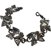 Rare Danecraft Sterling Silver Bird Bracelet
