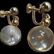 Mustard Seed Globe Vintage Hanging Earrings