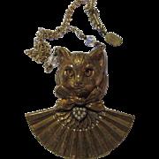 Piddly Winks Vintage Cat Statement Necklace Kingston New York