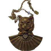 Piddly Winks Vintage Cat Statement Necklace Kingston New York
