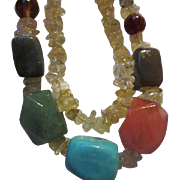 Wonderful Vintage Gemstone Necklace