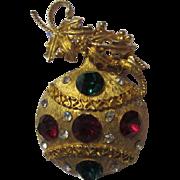Lovely Vintage Austrian Crystal Christmas Ornament Brooch Pin