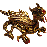 Fabulous Damascene Dragon Pin Spain
