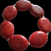 Apple Coral Vintage Stretch Bracelet